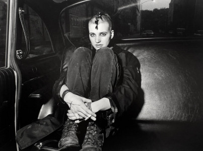 Ryab Weideman: Punk Donna in boots and backseat (1982)