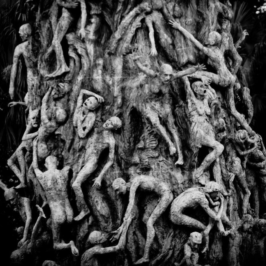 Detalle del Monumento al Holocausto en Miami Beach, Florida. Obra de Kenneth Treister.