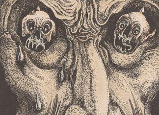 Detalle de litografía de Alberto Martini