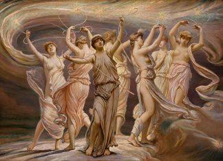Las Pléyades (1885). Obra de Elihu Vedder (1836-1923). Conservada en el Museo Metropolitano de Arte de Nueva York.