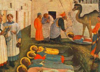 Detalle de la obra de Fra Angelico sobre los Santos Cosme y Damián.