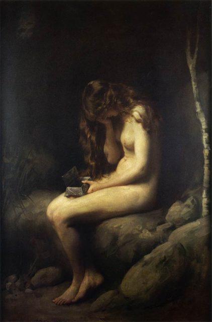 Thomas Benjamin Kennington: Pandora (1908). Una de las mejores representaciones pictóricas del mito de la caja de Pandora.