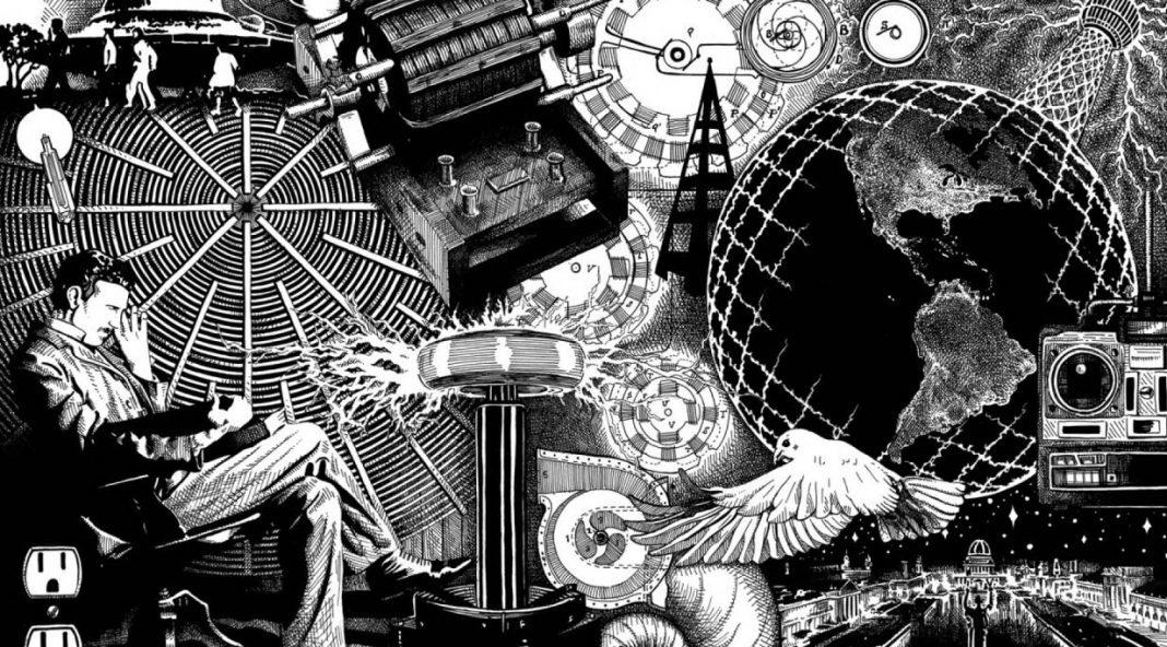 Ilustración de Nikola Tesla.