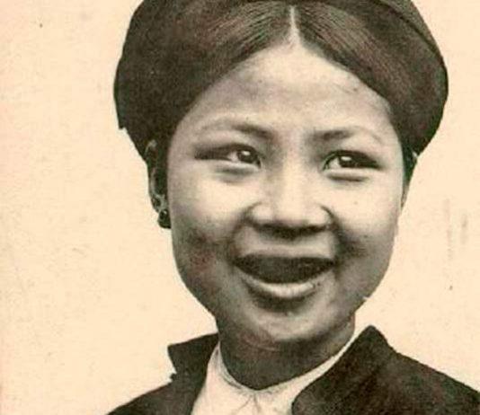 Ohaguro es una práctica japonesa cosistente en teñirse los dientes de negro.