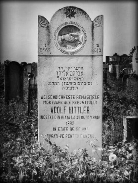 La tumba judía de Adolf Hittler