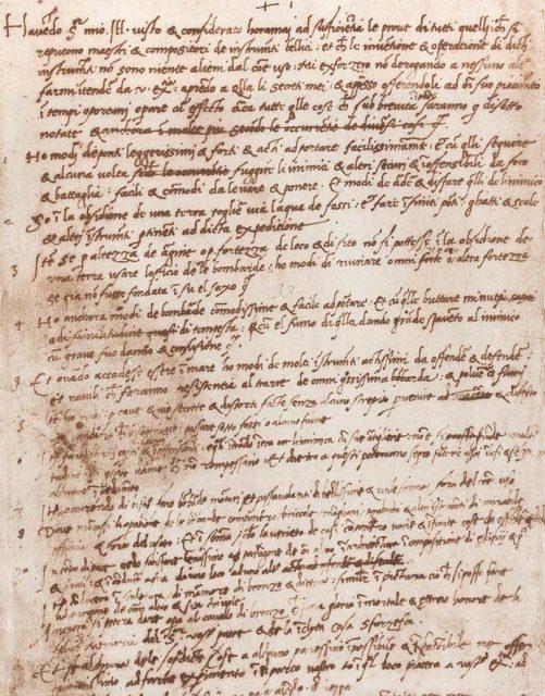 Curriculum Vitae de Leonardo da Vinci