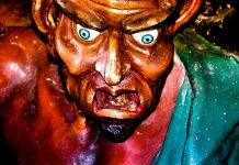 Detalle del demonio Asmodeo
