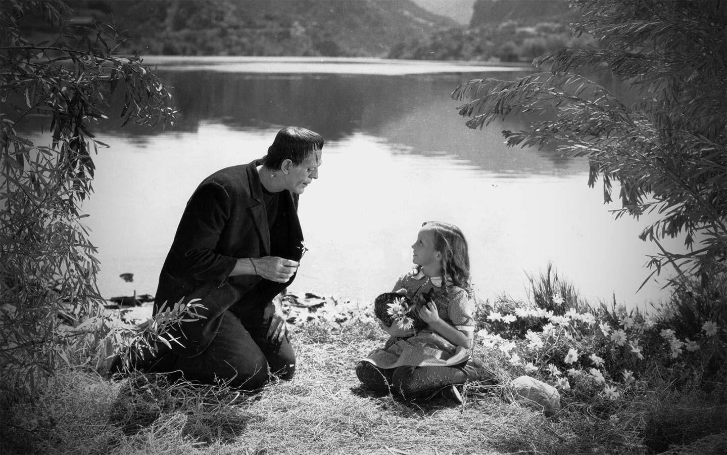 """Fotograma de una de las escenas más recordadas de la película de 1931 """"Frankenstein""""."""