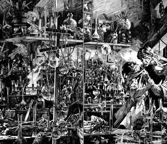 Ilustración de Bernie Wrightson para la obra de Mary Shelley