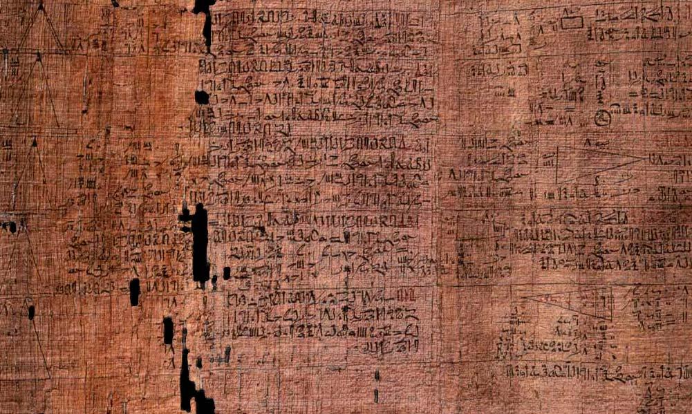El papiro de Rhind, también conocido como el papiro de Ahmés