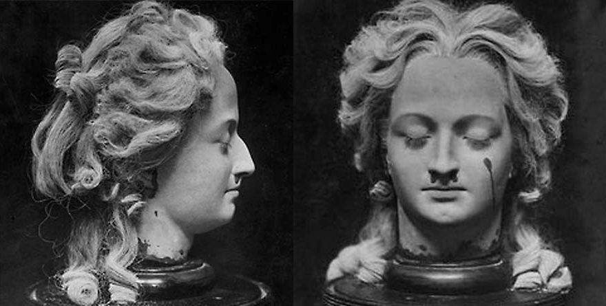 Escultura en cera de María Antonieta, realizada por Madame Tussaud.