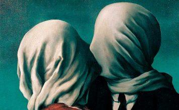 René Magritte: Los amantes (detalle)