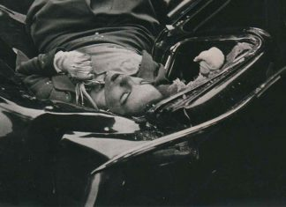 Detalle de la famosa fotografía de Robert Wiles del suicidio de Evelyn McHale