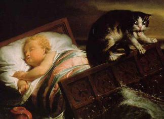 """Detalle de la obra de Lawrence Alma Tadema, """"La inundación de Biesbosch en 1421."""