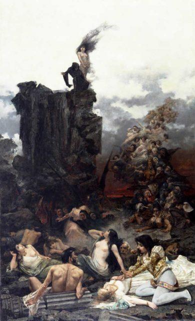 Vicente Cotanda Nicolau: La tentación de Fray Martín (1892). Museo Nacional de Bellas Artes de Buenos Aires (Argentina).