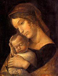 Andrea Mantegna: Madonna con niño durmiendo
