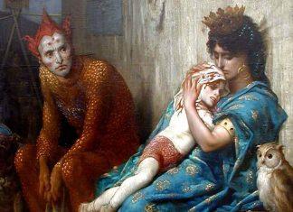 """Detalle de """"Les Saltimbanques"""", de Gustave Doré (1874)."""