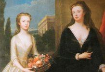 Detalle del cuadro de ;aria Verelst: La duquesa de Malborough y Diana Spencer